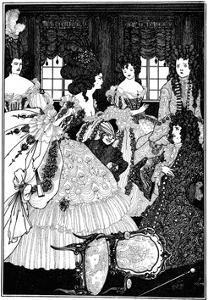 Battle of the Beaux and Belles, Aubrey Beardsley by Aubrey Beardsley