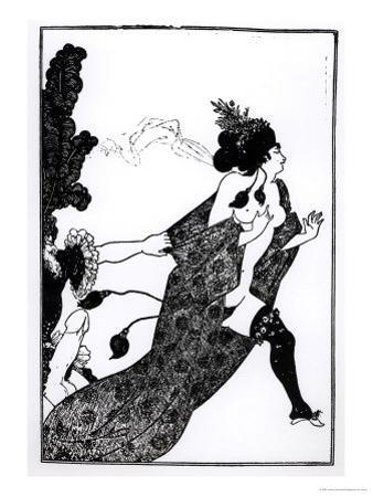 Cinesias Entreating Myrrhina to Coition, Illustration from Lysistrata by Aristophanes 1896 by Aubrey Beardsley