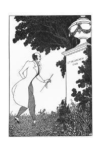 Et in Arcadio Ego, Illustration from 'The Savoy', 1896 by Aubrey Beardsley