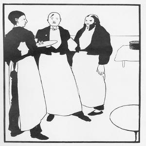 Garcons De Cafe, Illustration Form 'The Yellow Book', 1894 by Aubrey Beardsley