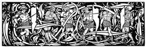 Headpiece,An Illustration from 'Le Morte D'Arthur' by Sir Thomas Malory, 1893-94 by Aubrey Beardsley