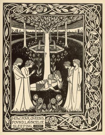 How Four Queens Found Lancelot Sleeping by Aubrey Beardsley