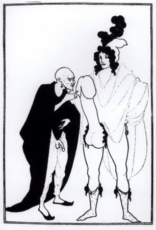 Illustration from Lysistrata by Aristophanes by Aubrey Beardsley