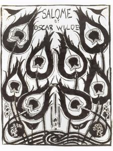 "Original Sketch for the Cover of ""Salome"" by Oscar Wilde circa 1894 by Aubrey Beardsley"