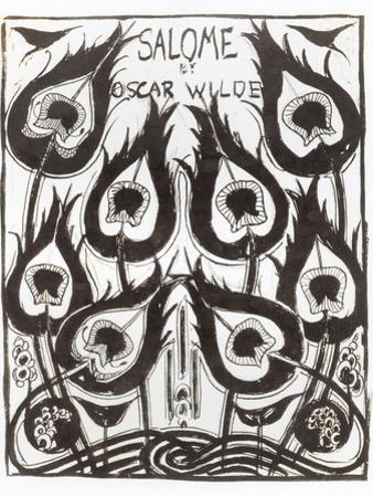 "Original Sketch for the Cover of ""Salome"" by Oscar Wilde circa 1894 by Aubrey Beardsley"