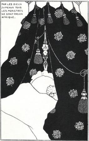 Portrait of the Artist in Bed by Aubrey Beardsley