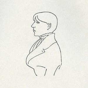 Portrait of the Artist in Outline by Aubrey Beardsley