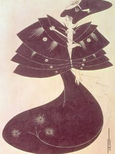 """The Black Cape, Illustration for the English Edition of Oscar Wilde's Play """"Salome,"""" 1894 by Aubrey Beardsley"""