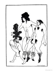 The Lacedaemonian Ambasadors, Illustration from Lysistrata by Aristophanes 1896 by Aubrey Beardsley