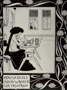 Iseult Writing to Tristan by Aubrey Vincent Beardsley