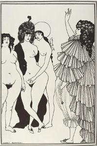 Lysistrata Talking to the Athenian Women by Aubrey Vincent Beardsley
