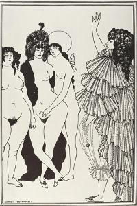 Lysistrata Talking to the Athenian Women by Aubrey Vincent Beardsley