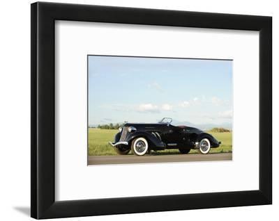 Auburn 852 SC Speedster 1936-Simon Clay-Framed Photographic Print