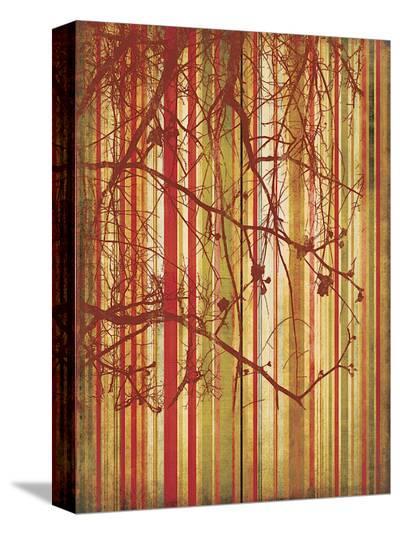 Auburn Stripe-Erin Clark-Stretched Canvas Print