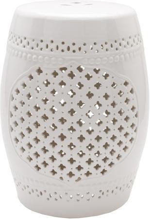 Auburndale Ceramic Stool - White