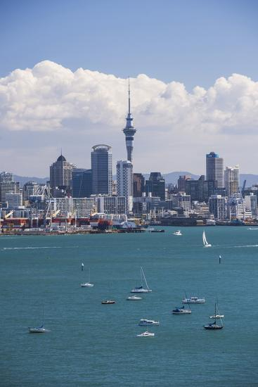 Auckland City Skyline and Auckland Harbour Seen from Devenport, North Island, New Zealand, Pacific-Matthew Williams-Ellis-Photographic Print
