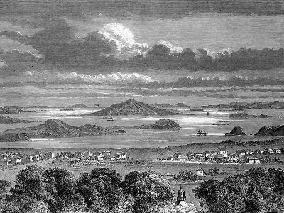 Auckland Harbour, Aukland, North Island, New Zealand, 1886- Lancelot-Giclee Print