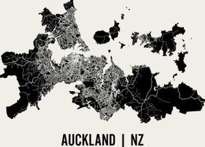 Auckland Map Art Print