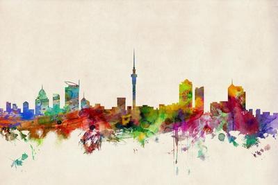 Auckland New Zealand Skyline-Michael Tompsett-Art Print