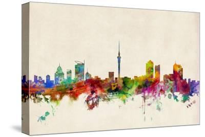 Auckland New Zealand Skyline-Michael Tompsett-Stretched Canvas Print