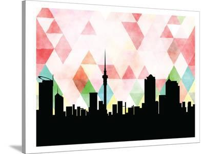 Auckland Triangle-Paperfinch 0-Stretched Canvas Print