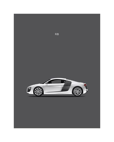 Audi R8-Mark Rogan-Giclee Print