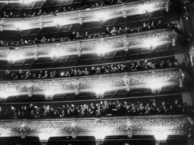 Audience Applauding Ballet Performed in the Bolshoi Theater--Photographic Print