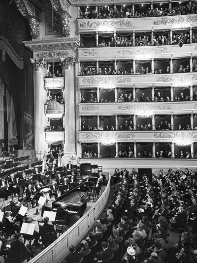 Audience at Performance at La Scala Opera House-Alfred Eisenstaedt-Photographic Print