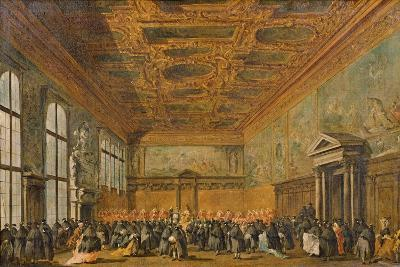 Audience Granted by the Doge of Venice in the College Room of Doge's Palace, C.1766-70-Francesco Guardi-Giclee Print