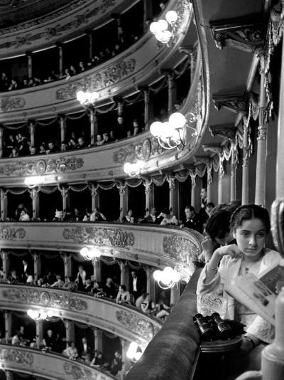 Audience in Elegant Boxes at La Scala Opera House-Alfred Eisenstaedt-Photographic Print