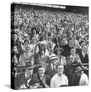 Audience Listening to Winston Churchill Speaking at Wolverhampton Football Field