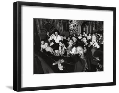 Audience Members Enjoying Alan Freed's Easter Show at Brooklyn Paramount Theater-Walter Sanders-Framed Premium Photographic Print