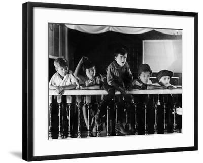 Audience of Young Boys--Framed Photo