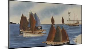 Audierne - entrée des bateaux sardiniers