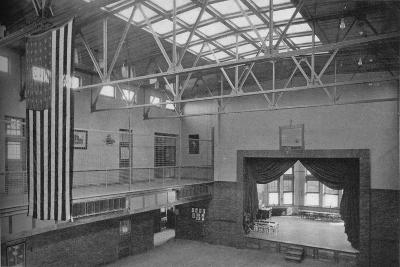 Auditorium-gymnasium, Edward S Bragg School, Fond du Lac, Wisconsin, 1922--Photographic Print