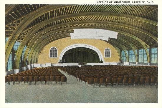 Auditorium Interior, Lakeside--Art Print