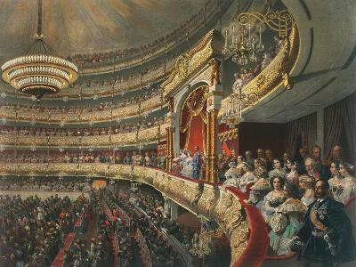 Auditorium of the Bolshoi Theatre, Moscow, Russia, 1856-Mihály Zichy-Giclee Print