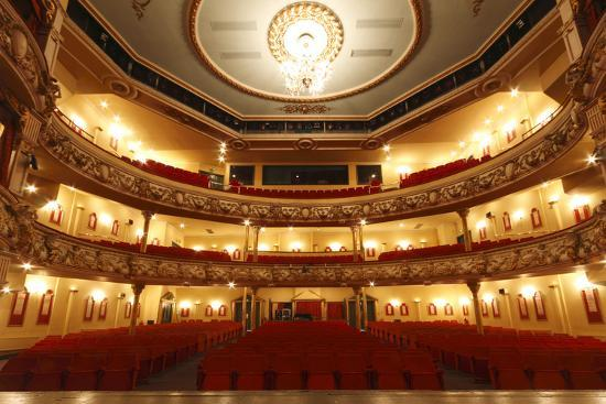 Auditorium of the Grand Theatre, Swansea, South Wales, 2010-Peter Thompson-Photographic Print