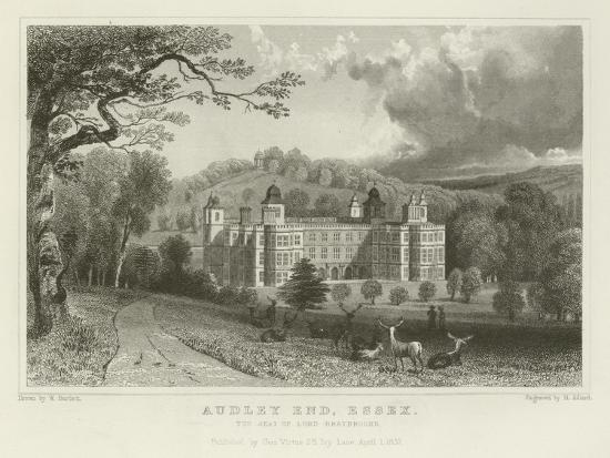 Audley End, Essex, the Seat of Lord Braybrooke-William Henry Bartlett-Giclee Print