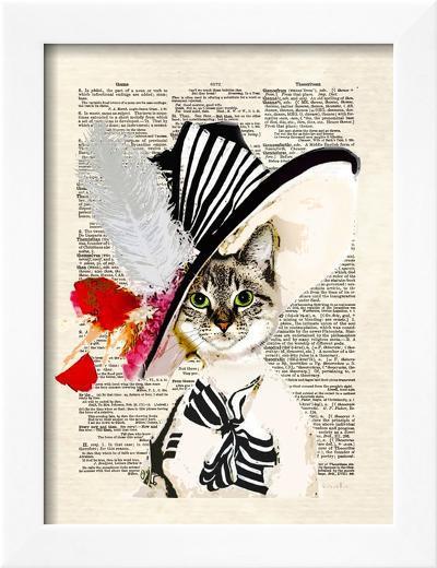 Audrey Cat-Matt Dinniman-Framed Art Print