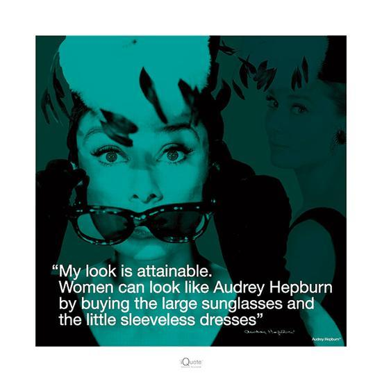 Audrey Hepburn – Attainable-Unknown-Art Print