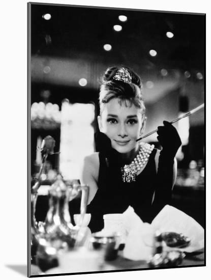 """Audrey Hepburn. """"Breakfast At Tiffany's"""" 1961, Directed by Blake Edwards--Mounted Photographic Print"""