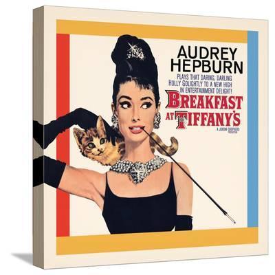 Audrey Hepburn, Breakfast at Tiffanys--Stretched Canvas Print
