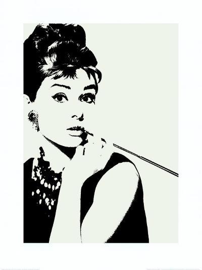 Audrey Hepburn: Cigarillo--Art Print