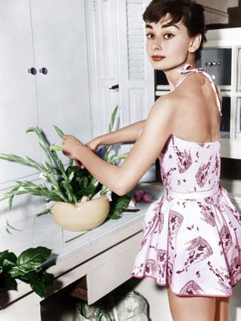 Audrey Hepburn Creates a Flower Arrangement, Ca. Early 1950s