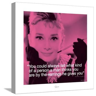 Audrey Hepburn: Earrings--Stretched Canvas Print