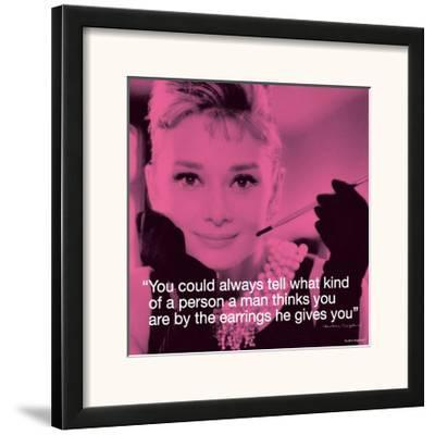 Audrey Hepburn: Earrings--Framed Art Print