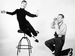 """Audrey Hepburn, Fred Astaire. """"Funny Face"""" 1957, Directed by Stanley Donen"""