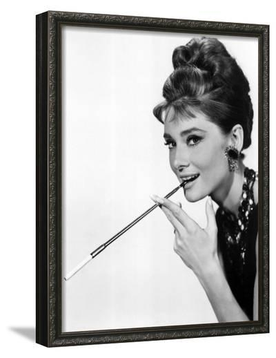 Audrey Hepburn in Breakfast at Tiffany's, 1961--Framed Photographic Print