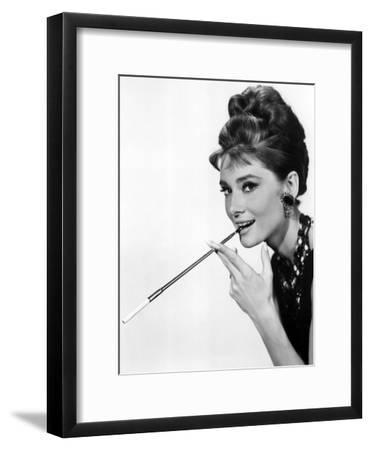 Audrey Hepburn in Breakfast at Tiffany's, 1961--Framed Photo